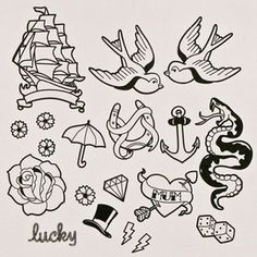 Almost all of these are sick. Nautical flash for left forearm.