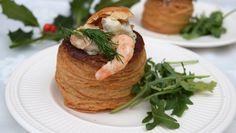 Pasteitjes met romige garnalen en oesterzwammen