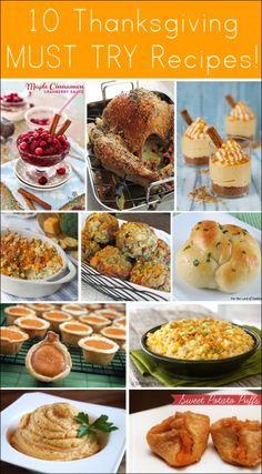 10 thanksgiving recipes!