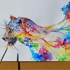 Watercolor jaguar