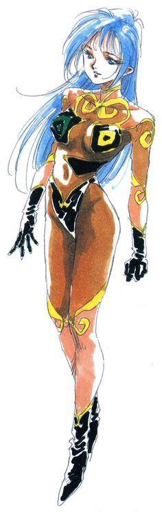 Macross II, Ishtar, by Haruhiko Mikimoto