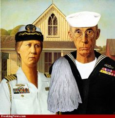 Navy Gothic ~ parody within a parody ~ Officer with Enlisted :-}