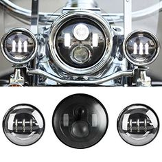 Stunning LED Projector Daymaker Motorcycle Headlights Passing Fog Lamp Harley