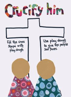 Flame: Creative Children's Ministry: Crucifixion (Good Friday) Play Dough Mat