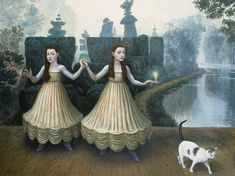 Escape from the Garden of Different Meanings by Mike Worrall, Surrealist Painter