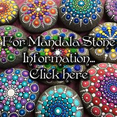 Mandalas painted on rocks. Here's her FB how-to video link: https://www.facebook.com/Happinessinyourlife/videos/1054030094677714/