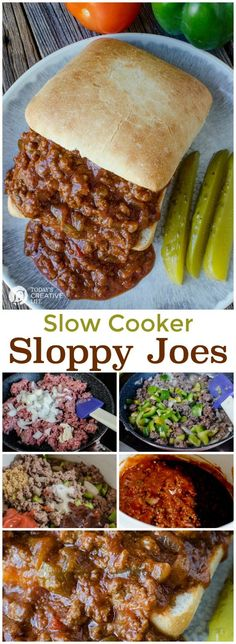 Slow Cooker Sloppy Joes | Crock Pot Recipes full of comfort foods like these sloppy joes make a delicious dinner. Family friendly and something everyone will love. Click the photo for the recipe. http://TodaysCreativeLife.com