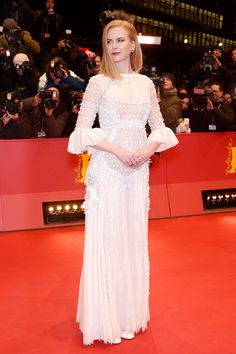 Nicole Kidman wore a Valentino Haute Couture gown from the Sala Bianca 945 collection at the 'Queen of the Desert' premiere during the 65th Berlinale International Film Festival, on February 6th2015