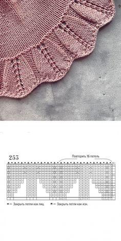Lace Knitting Patterns, Knitting Charts, Lace Patterns, Knitting Stitches, Knitting Yarn, Baby Knitting, Embroidery Patterns, Stitch Patterns, Knit Edge