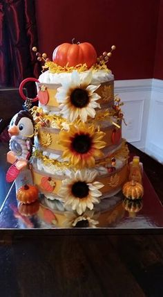 Fall themed diaper cake by Brianne