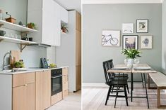 Real Estate, Interior Ideas, Kitchen, Table, Furniture, Home Decor, Modern, Rome, Cooking