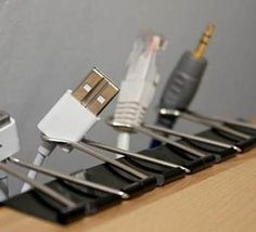 Quick way to organize your cables as posted in ScienceAdda on FB