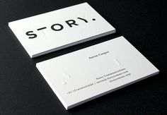 love the blind emboss in combination with black print--Story