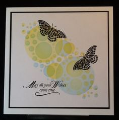 Clarity stencil, ( Jo's Bubbles), Adirondack inks and Clarity stamps...