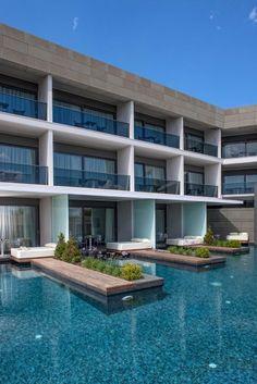 Aqua Blu Boutique Hotel & Spa, Luxury Hotel in Kos, Greece Hotel Suites, Hotel Spa, Aqua, Kos, Small Luxury Hotels, Hotel Architecture, Pool Bar, Resort Villa, Das Hotel