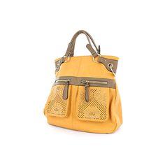 Gold Accented Large Tribal Handbag