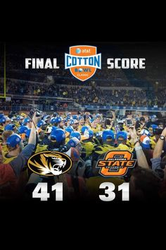 And MIZZOU takes it for the win.