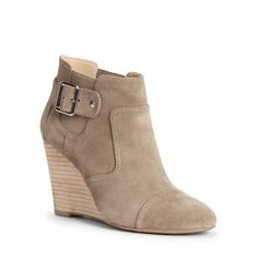 Women's Fennel Suede 3 1/2 Inch Wedge Bootie | Heather by Sole Society