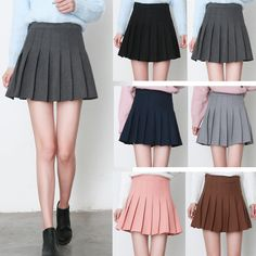 Sweet students woolen pleated skort SE10803