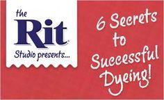 Rit dye website has great tips and ideas for dye.