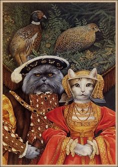 By Suzanne Duranceu .........................    Looks like  Tudor Cats  to me !
