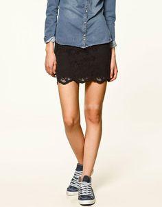 Stylish Simple Design Pure Color Lace Skirt Black CS1202265.http://www.clothing-dropship.com