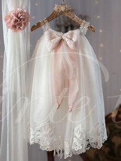 Christening Dress Baby Girl Baptism Birthday Dress by PJbydesign Baptism Outfit, Baptism Dress, Baby Girl Christening, Christening Gowns, Christening Outfit, Little Girl Dresses, Girls Dresses, Flower Girl Dresses, Blessing Dress