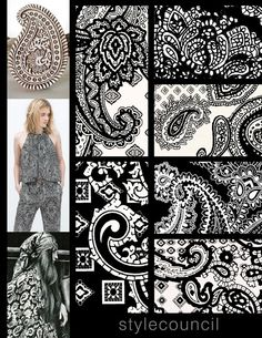 Style Council: This black and white porcelain paisley always has a classic pristine look. A great way to add that clean contrast to any design.