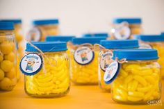 Minions party favors from gerber jars