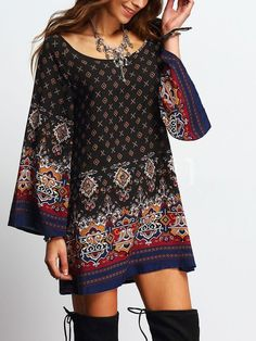 Vintage Dress - This chiffon vintage dress is cute and classy. It can easily be worn with boots as a fun casual dress or paired with heels and worn to the office.