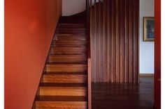 staircase with integrated balustrade / wall