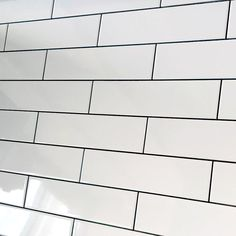 long smooth flat brick white gloss ceramic wall tile by Demireks tiles. Prefect as a kitchen tile splash back or a traditional bathroom wall tile. White Brick Tiles, Brick Wall, Brick Bonds, Decatur Georgia, Georgia Homes, Metro Tiles, Tiles Online, Ceramic Wall Tiles