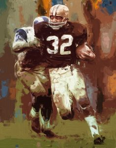 Faster than a speeding bullet. More powerful than a locomotive. Able to leap tall buildings in a single bound. The pro game in the pop age had a number of superstars, but only one superman and he was Jim Brown.