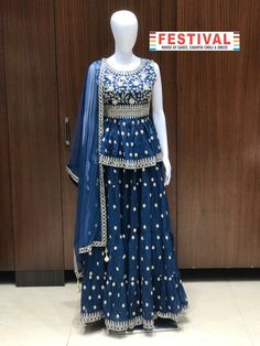 Amazing turquoise blue peplum style for Reception and Festive wear ♦️Shop at FESTIVAL LALGATE SURAT ♦️ New arrivals ♦️Lehanga choli , Gowns , Sarees ♦️Dm us for product inquiry or to shop on video calling ♦️Follow us @festival.india . . . . . #Festival #Festivalindia #indianclothing #handwork #bollywoodstyle #occasionwear #indiantradition #tradionalwear #bridalcouture #indianbride #threadwork #silk #indowestern #festive #festiveseason #plazosuits #ethnic ##festivalcollection #shopno