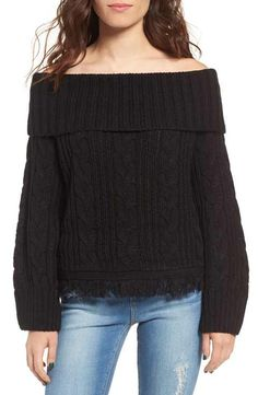 MOON RIVER Off the Shoulder Sweater