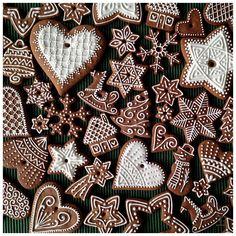 Boże Narodzenie 2017 Cute Christmas Cookies, Christmas Gingerbread House, Xmas Cookies, Christmas Candy, Cupcake Cookies, Christmas Baking, Christmas Holidays, Gingerbread Decorations, Gingerbread Cookies