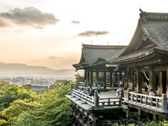 Founded in 780 (and honored as a UNESCO site in 1996), Kiyomizu-dera is a Buddhist temple dedicated to the spirit of mercy. It lies on the eastern edge of Kyoto, providing visitors sweeping views of the city in the distance, as well as the surrounding cherry and maple trees.