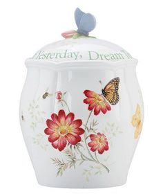 Look what I found on #zulily! Butterfly Meadow Cookie Jar #zulilyfinds