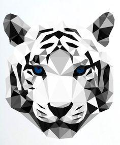 Resultado de imagem para dibujo minimalista geometrico de tigre