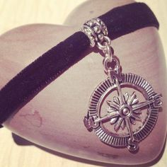 Unique Compass Black Velvet Choker via AngaarA . Click on the image to see more!