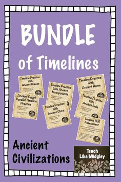 Everything you need for teaching timelines with ancient civilizations! Includes Teacher Tips!