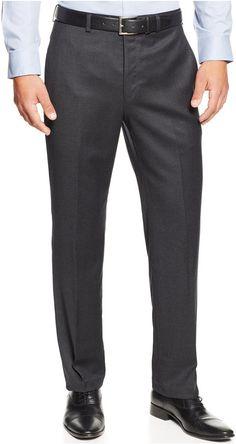 Lauren Ralph Lauren Flannel Flat-Front Dress Pants