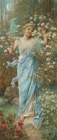 Dancing Amongst the Flowers by Hans Zatzka