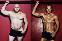 Estos 4 hombres normales se ponen ropa interior de diseño, y no lo hacen nada de mal. Industria de la moda, toma nota.