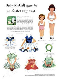 Easter paperdolls>>> I think I had this exact one from my mom' sold stash.