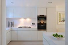 Stunning Scandinavian Interior Design Home Showcasing Brightness : Sleek Modern Kitchen Design London Home With Scandinavian Interior