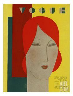 Vogue Cover - August 1929 Regular Giclee Print by Eduardo Garcia Benito at Art.com