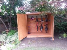 Top 3 Lean to Storage Shed Choice 60 Storage Sheds Ideas You May Like - Enjoy Your Time. Outside Storage Shed, Storage Shed Kits, Shed Organization, Outdoor Storage Sheds, Outdoor Sheds, Bike Storage Shed Diy, Garage Velo, Build Your Own Shed, Bike Shed