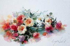 Мобильный LiveInternet >Я рисую цветы акварелью... Художница Yuko Nagayama. | Мурена27 - Дневник Мурена27 |