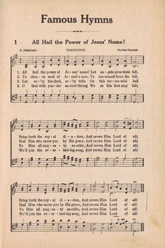 Timeless classic song from an antique hymn book from knick of time